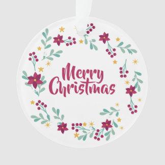 Simple Christmas Wreath Purple   Ornament
