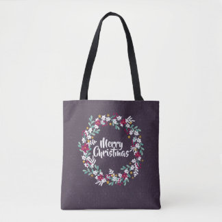 Simple Christmas Wreath Purple | Tote Bag