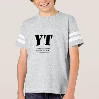 Simple Classic Black Monogram T-Shirt