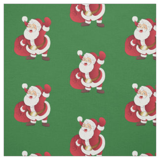 Simple Classic Retro Santa Fabric