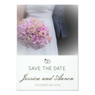Simple Classic Save The Date Note Ivory Background Card
