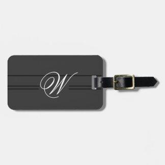 Simple Classy Travel Luggage Tag Monogram