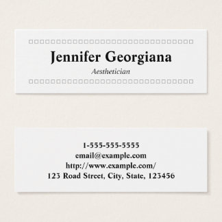 Simple & Clean Aesthetician Business Card