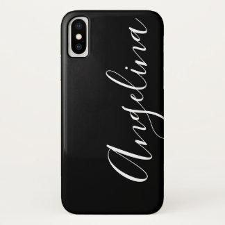 Simple Clean Black White Script Name Case-Mate iPhone Case