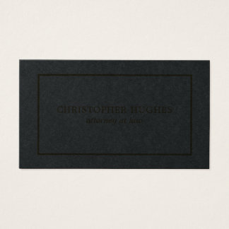 Simple Clean Elegant Black Faux Gold Attorney Business Card
