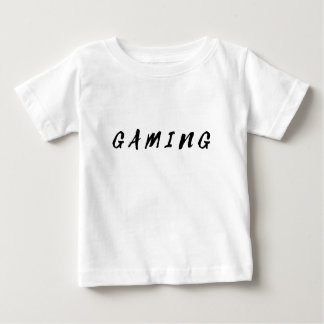 Simple Clean Gamer Gaming Black Text Baby T-Shirt
