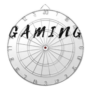 Simple Clean Gamer Gaming Black Text Dartboard