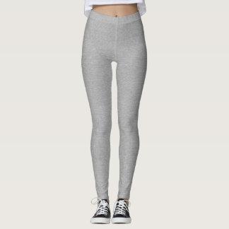 Simple, clean grey linen look sophisticated gray leggings