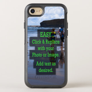 Simple Click & Replace Photo to Create Your Own OtterBox Symmetry iPhone 8/7 Case