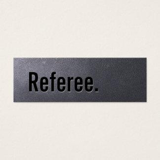 Simple Coal Black Referee Mini Business Card