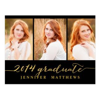 Simple Collage Graduation Party Invitation Postcard