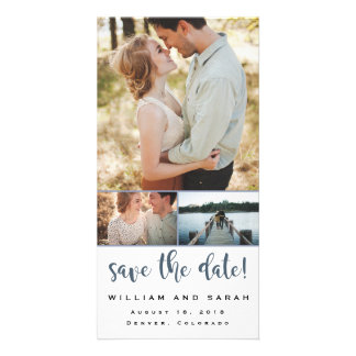 Simple Collage Save-The-Date Customized Photo Card