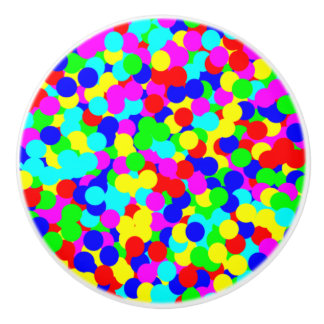 Simple Colorful Fun Dot Design Ceramic Knob