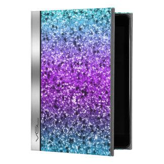 """Simple Colorful Glitter Silver Accent Monogram iPad Pro 9.7"""" Case"""