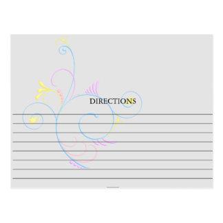 Simple Colorful Swirly Swirl Recipe Cards Postcard