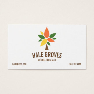 Simple Colorful Tree Logo Business Card