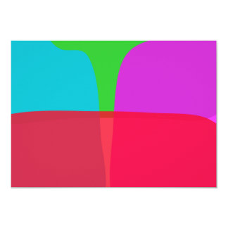 """Simple Colors Abstract Art 5"""" X 7"""" Invitation Card"""