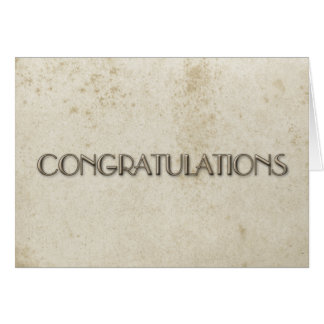 Simple Congratulations Vintage Stained Paper Card