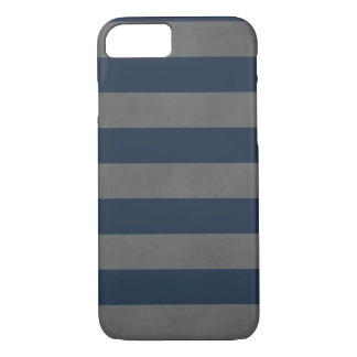 Simple Cool Manly Texture Grey Blue Striped iPhone 7 Case