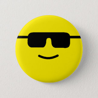 Simple Cool Shades Yellow Face 2 Inch Round Button