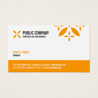 Simple Corporate One Sided Business Card