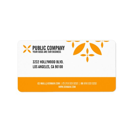 Simple Corporate Return Address Labels