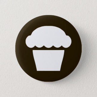 simple cupcake / muffin 2 inch round button