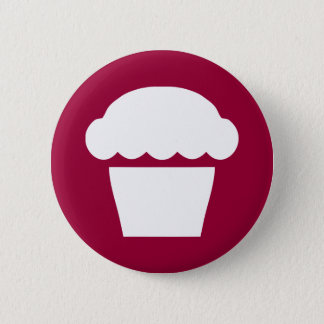 simple cupcake / muffin 2 inch round button