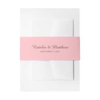 Simple Custom Color Invitation Belly Bands Invitation Belly Band