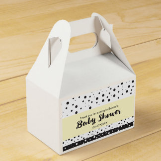 Simple, custom, dots, Baby shower Favor Box