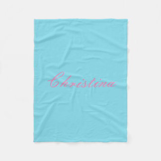 Simple Custom Name Fleece Blanket