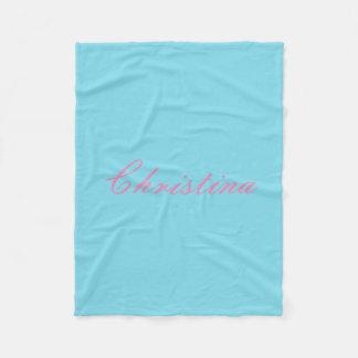 Simple Custom Name Fleece Blanket