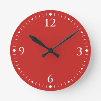 Simple Customizable Choose Your Colour Round Clock