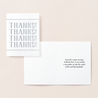 """Simple, Customized """"Thanks!"""" Card"""