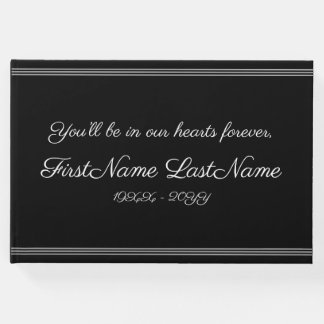 Simple & Customized Wake Service Guest Book