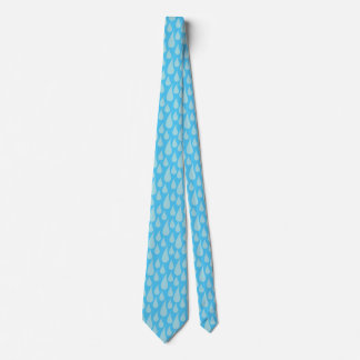 Simple Cute Blue Water Droplets Rain Drops Tie
