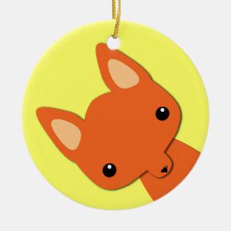 Simple Cute fox Ceramic Ornament
