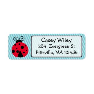 Simple Cute Ladybug Address Label
