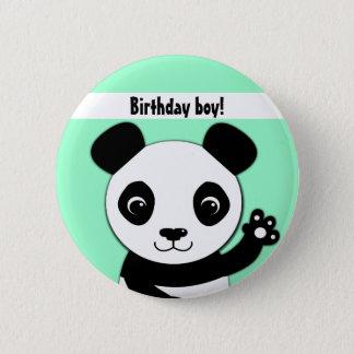 Simple cute panda Birthday boy 2 Inch Round Button