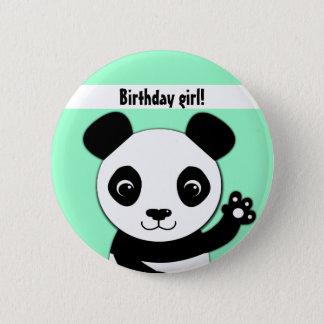 Simple cute panda Birthday girl 2 Inch Round Button
