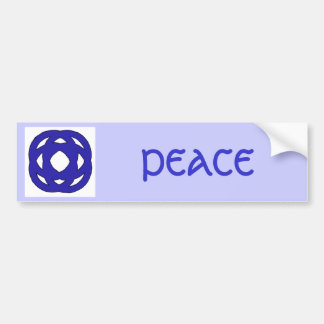 Simple Dark Blue Knot Bumper Sticker