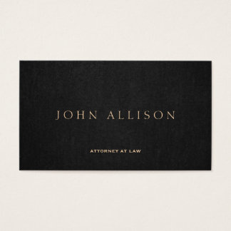 Simple Dark Brown Elegant Attorney at Law Business Card