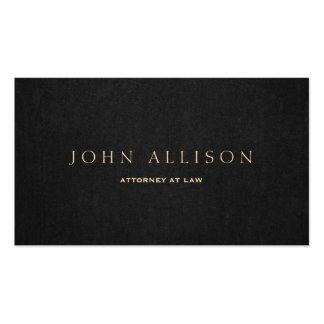 Simple Dark Brown Elegant Attorney at Law Business Card