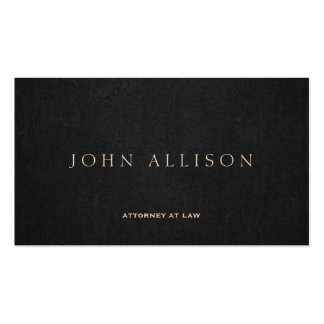 Simple Dark Brown Elegant Attorney at Law Pack Of Standard Business Cards
