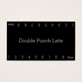 Simple Dark Loyalty Coffee Punch-Card Business Card