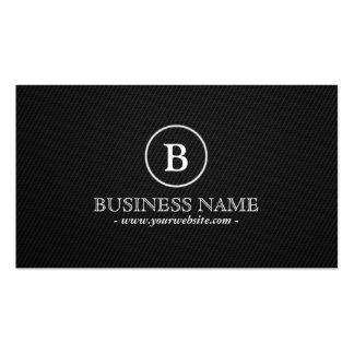 Simple Dark Monogram Playwright Business Card