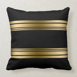 Simple Decorative Gold Stripes Design Throw Pillow