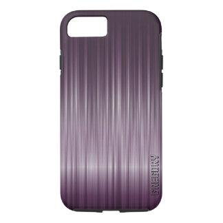 Simple Deep Purple Carbon Fiber Texture iPhone 7 Case