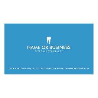 simple dentistry business cards