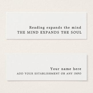 Simple Design Bookmark Mini Business Card